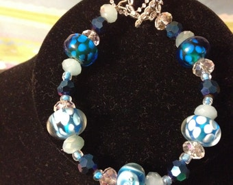 Crystal and Glass Bracelet