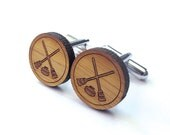 Curling Cufflinks. Canadian Cufflinks. Wood Cufflinks. Groomsmen Gift. Groom Gift. Gift For Men. Mens Gift. Gifts For Dad. Gifts Under 25.