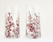 Glass Tumblers, Set of 2  - Cherry Blossoms Collection