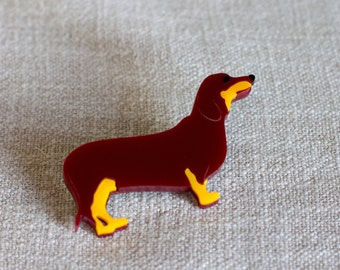 Dachshund Brooch - dachshund Jewellery - Dog brooch - Dog gift - dachshund Gift - Gift with dachshund - dachshund Dog