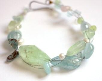 Aquamarine - Strung-Out guitar string bracelet