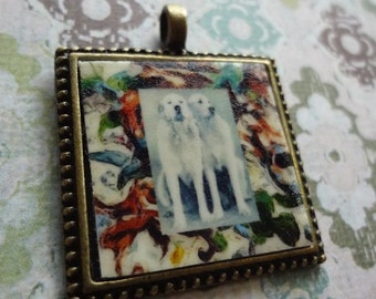 Great Pyrenees Pendant Pair of Pys