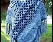 PDF Crochet Pattern for Shades of Autumn Poncho