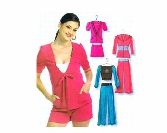 Womens Hooded Jacket Tops Shorts Pants McCalls 5819 Sewing Pattern DIY Style UNCUT