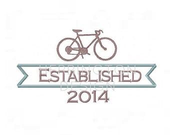 Home Established Bicycle Nautical Machine Embroidery Monogram Font