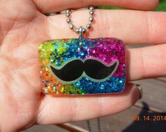 Clearance-I Mustache you a question Pendant Necklace