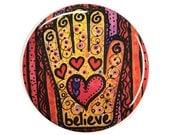 Believe Hamsa magnet, pin...