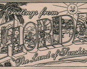rubber stamps Greetings From Florida  cling stamp, unmounted or wood mounted  12370