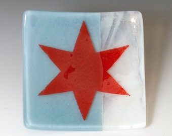 Chicago Fused Glass Catch-all Dish