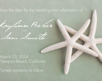 25 cards per set- wedding save the date cards  - White Starfish