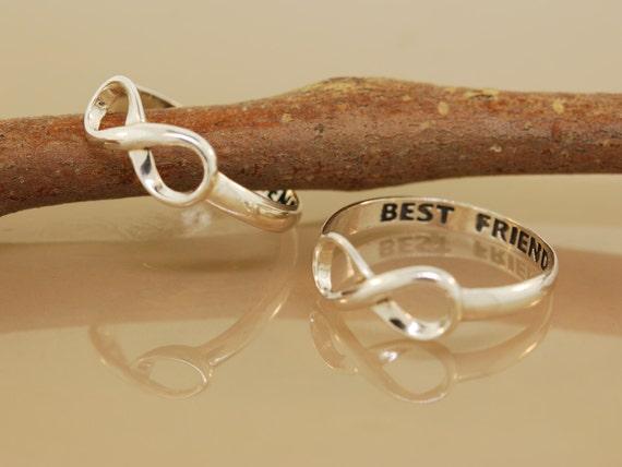 items similar to two best friend rings original twist