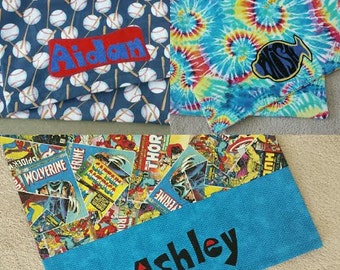Custom Designed PILLOW CASE - You pick the Theme - Personalized - Character Themes - Makes a Great GIFT - Back to School