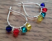 Autism Awareness Swarovski Crystal Mini-Hoop Earrings