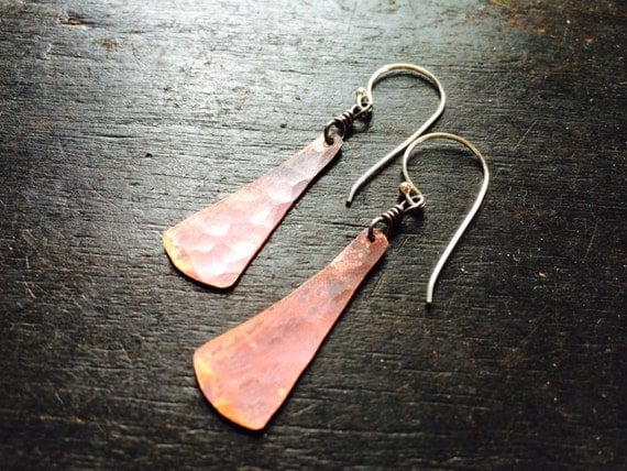 Copper Hammered Strips