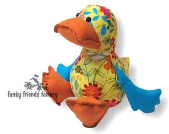 Dilby Soft Toy Duck Pattern PDF