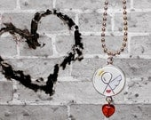 Love Angel Heart Necklace