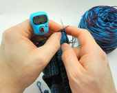 Turquoise Row Counter for Knitting And Crochet - Fits On Your Finger!