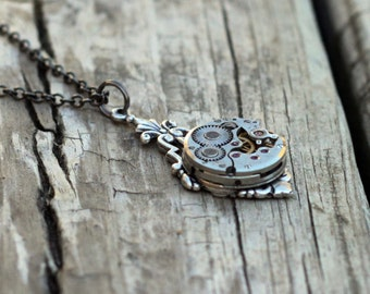 Steampunk Watch Movement Necklace