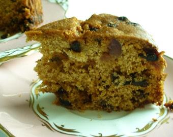 "Fruity Marmalade Cake 6"" round Vegan Fruit Cake"