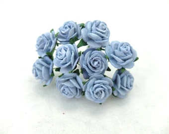 20mm steel blue mulberry roses