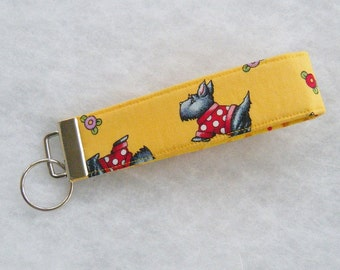 Key Fob wristlet - Scotty dogs