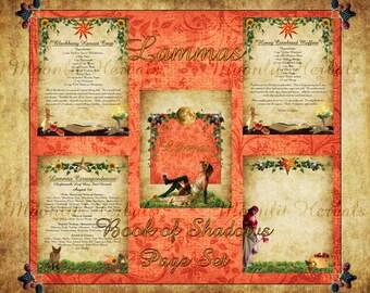 Lammas Digital Book of Shadows Pages - Set of 5 - Witch's Grimoire, Lughnasadh Sabbat, Kitchen Witch Recipes, Autumn Harvest, Goddess Bounty