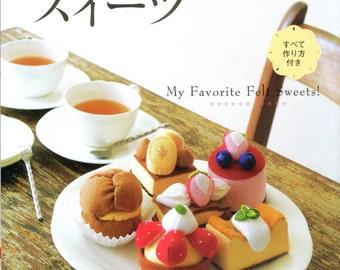 Handmade FELT SWEET DESSERTS n3378 Japanese Craft Book