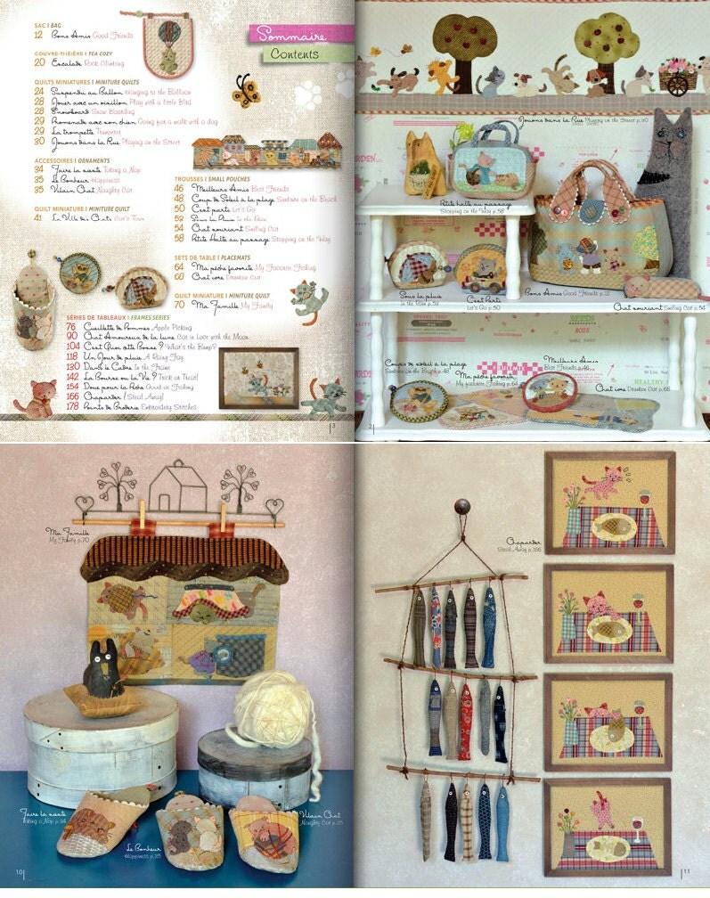 Reiko kato little stories of cats english french craft - Reiko kato patchwork ...