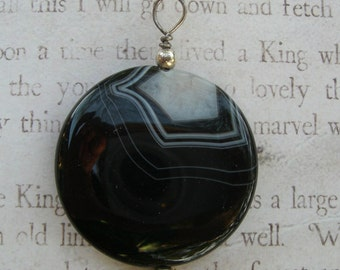 Agate Pendant  and Sterling Findings