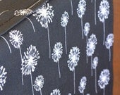 Designer Dog Crate Cover in ALL sizes - Dog Bed Duvet Covers - YOU Choose Fabric - Small Dandelions Black White shown