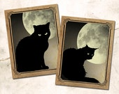 Midnight Cats Notecard Set: Boxed Set of Six Black Cat Blank Note Cards