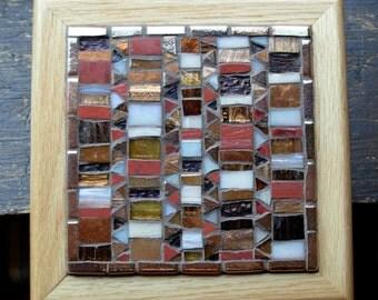 Arts and Crafts Style Earthtone Mosaic Trivet