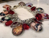 The Wizard of Oz Jewelry Charm Bracelet Lovely Dorothy and Friends