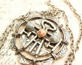 Large Medallion Style Vintage Pendant - To Benefit Heart Strings