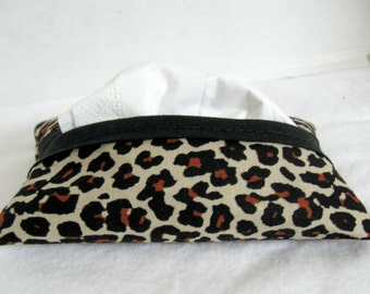 Cheetah Pocket Tissue Holder Animal Print Tissue Cozy Tissue Case