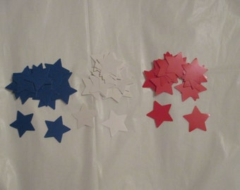 Red, White and Blue Star Die Cuts