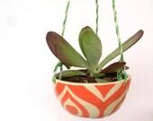 Hanging planter---coral eye pattern