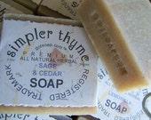 sage & cedar cold processed soap