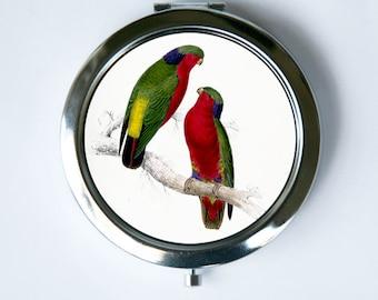 Parakeet Bird Compact Mirror  love birds nature calm pretty
