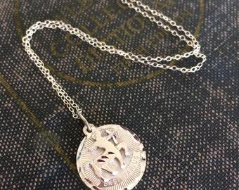 November birthday Necklace, Sagittarius Charm Necklace, Sterling Silver Charm, Horoscope Necklace, December Birthday