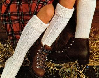 Mens Traditional Kilt and Hikers Socks Vintage Knitting Pattern Pdf Digital Download