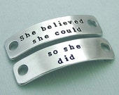 Dog Agility Shoe Tags - Hand Stamped - Canine Agility - MACH Gift - Dog Agility Accessory - She believed she could so she did