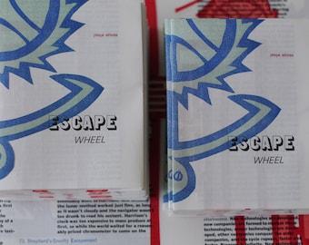 Letterpress and Linocut Pamphlet: Escape Wheel