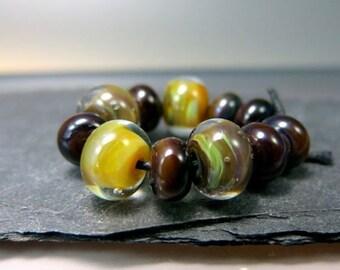 Handmade Lampwork Beads by GlassBeadArt  ... Fall Symphony 1 ... SRA F12