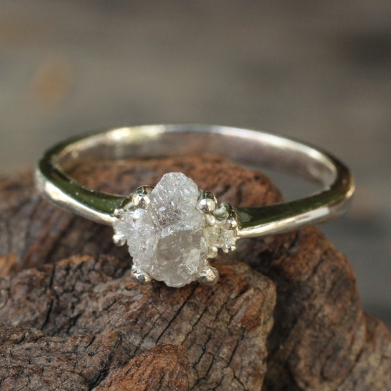 Rough White Diamond Engagement Ring In Sterling Silver Band. Halftone Rings. Average Engagement Engagement Rings. Normal Wedding Rings. Black Opal Rings. Caravaggio Wedding Rings. Wedding Gift Wedding Rings. Vintage English Engagement Engagement Rings. Stone Engagement Rings