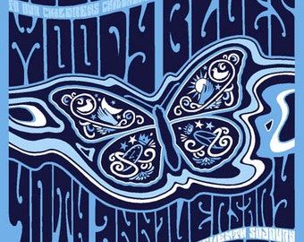 The Moody Blues 40th Anniversary Silk Screen Commemorative Collectible Concert Album Poster