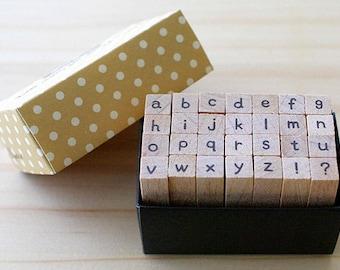 A TYPE - Mini Alphabet Stamp Set - font g type - Lowercase