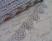 Metallic Silver Venise Lace Trim, approx 3/4 inch wide