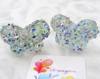 Lampwork Glass  Beads Batik Butterfly small