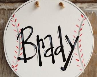 Baseball, Sign, Plaque, Boy, Door Sign, Bedroom Door, Wall Art, Boy Art, Baseball Art, Personalized